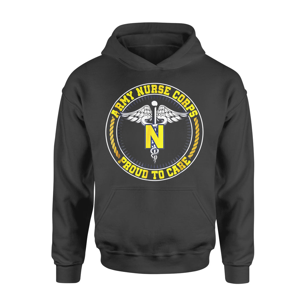 Nurse Gift Idea Army Cops Proud To Care - Standard Hoodie