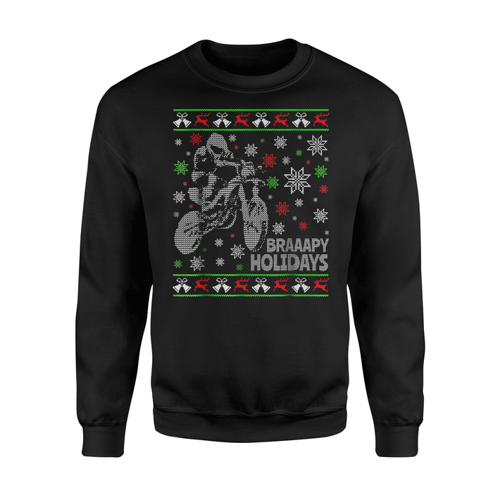 Christmas Gift Idea - Dirt Bike Motocross - Standard Fleece Sweatshirt