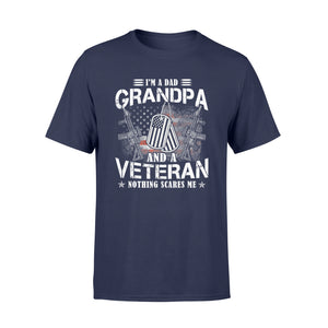 I'm A Dad Grandpa T-Shirt Veteran Fathers Day gifts - Standard T-shirt