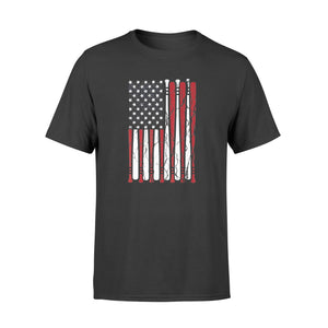 Vintage American Flag Baseball Men Boys Apparel Dad 4th July - Standard T-shirt