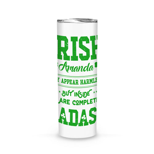 Personalized St Patrick Day Gift Idea - Irish Girl 2 - Tumbler