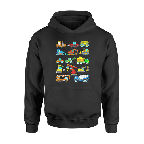 Son gift idea Construction Excavator T-Shirt - Standard Hoodie