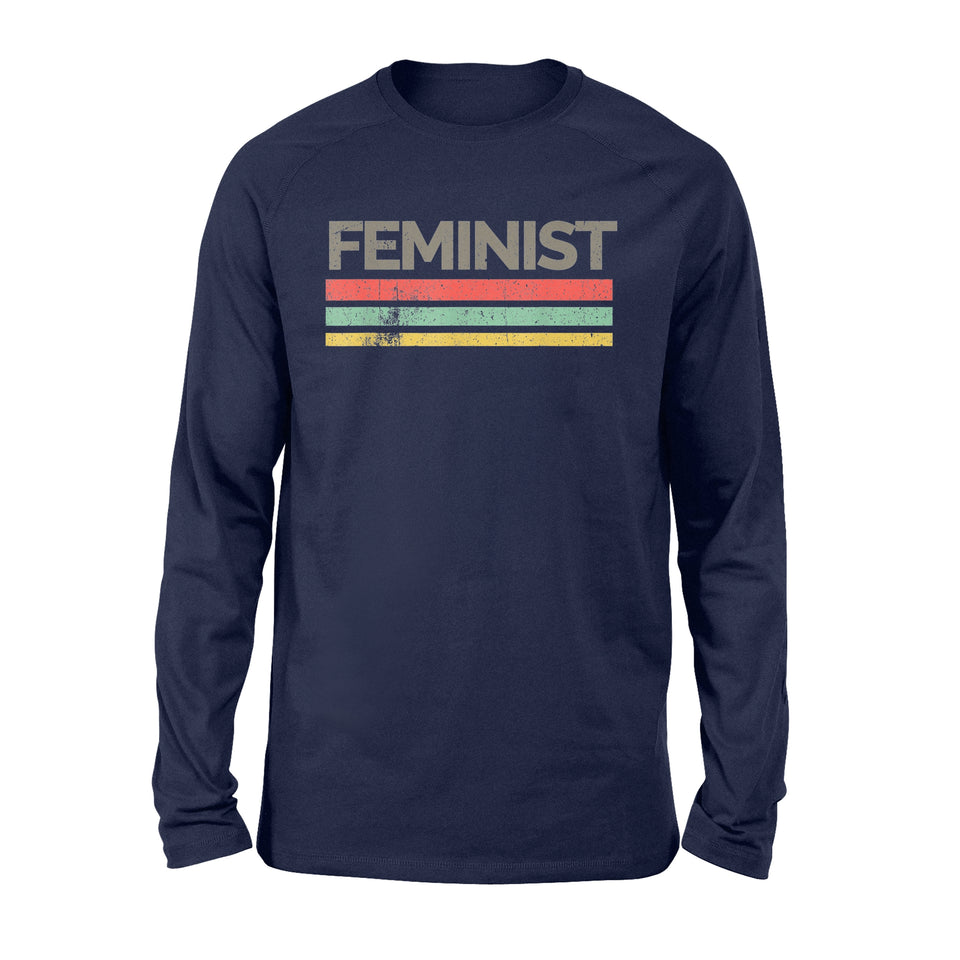 Vintage Feminist Awesome Feminism Rights - Standard Long Sleeve