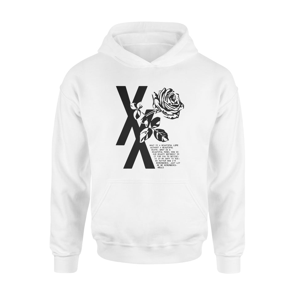 Love Gift Idea - Mgk T Xx Flower Black Rose - Standard Hoodie