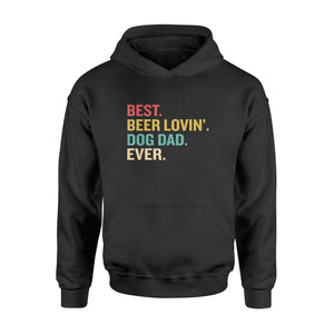 4th of July Best Beer Loving Dog Dad Ever - Standard Hoodie