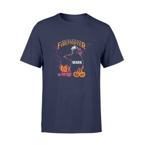 Personnalized Fireman Halloween Gift Idea United States Firefighter - Standard T-shirt