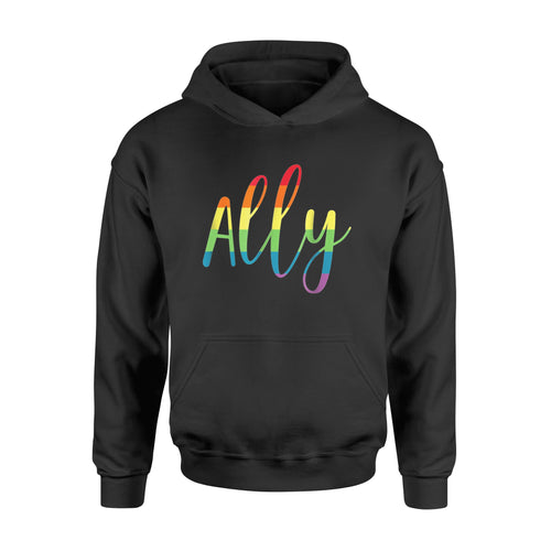 Ally T-Shirt Gay Pride Support LGBTQ Equality - Standard Hoodie
