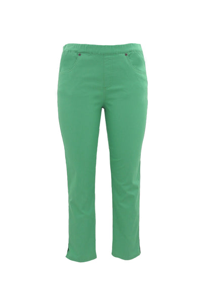 Pull On 7/8th Length Jeans in Jade
