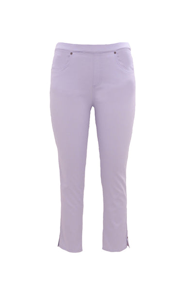 Pull On 7/8th Length Jeans in Lavender