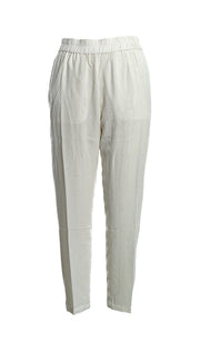 Viscose Pant with Side Pockets in Natural