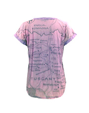 Tuscany Roses Sublimation Tee in Pink