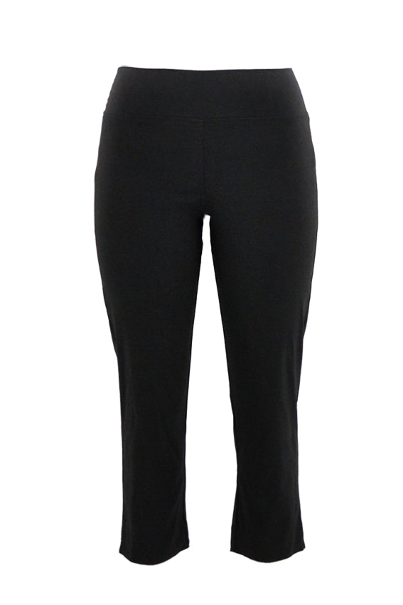 Stretch Pull-On Bengaline 7\8 Length Pants in Black