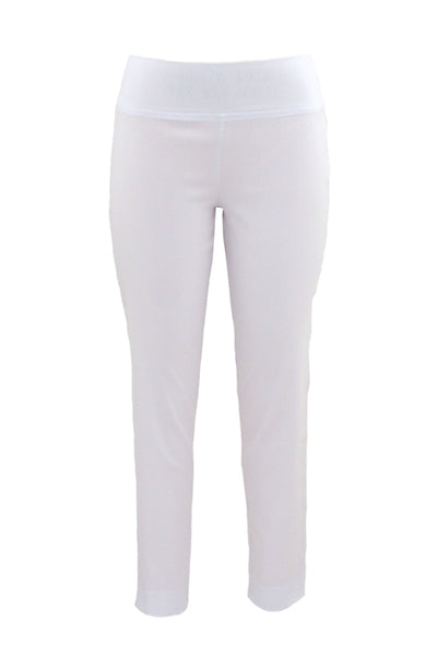 Pull-On Full Length Bengaline Pants in White