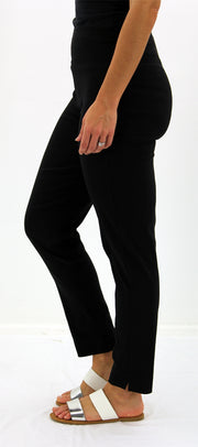 Pull-On Full Length Bengaline Pants in Black