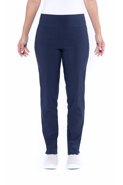 Pull-On Full Length Bengaline Pants in Navy