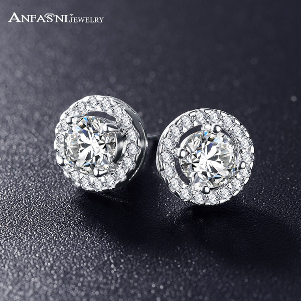 AA Cubic Zirconia Stone Earring - jewelryboutique