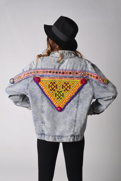 Gypsy Warrior Denim Jacket - ONE OF A KIND COOLNESS