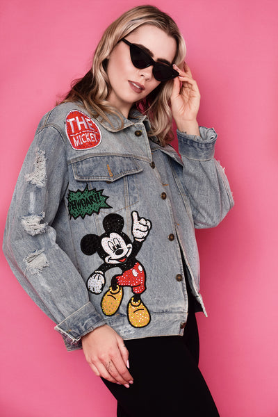 Mickey Disney Oversized Diamanté Luxury Jacket