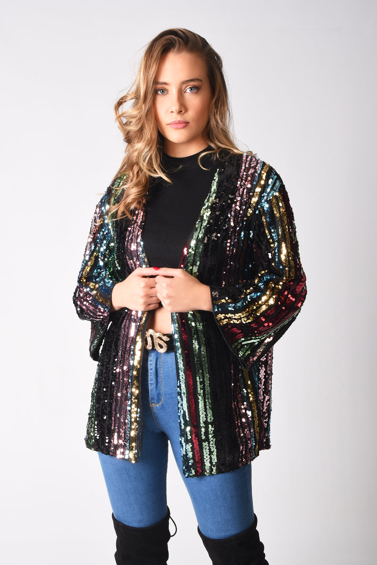 Load image into Gallery viewer, Naomi Luxury Sequin Jacket