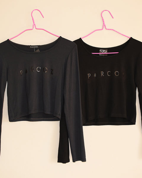 Long Sleeve with Parooz Print - Black