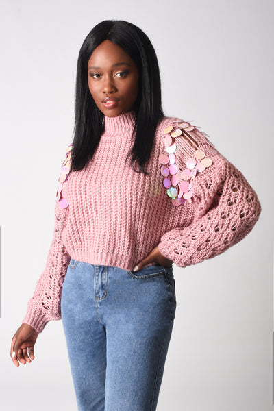 Pixie Knitted Sequin Sweater