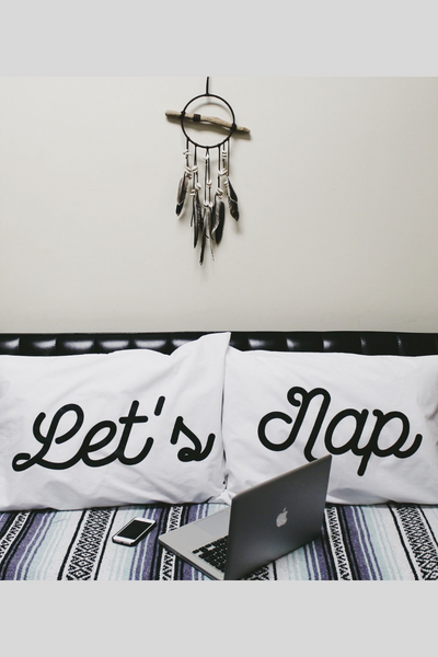 Lets Nap - Pillow Case Set