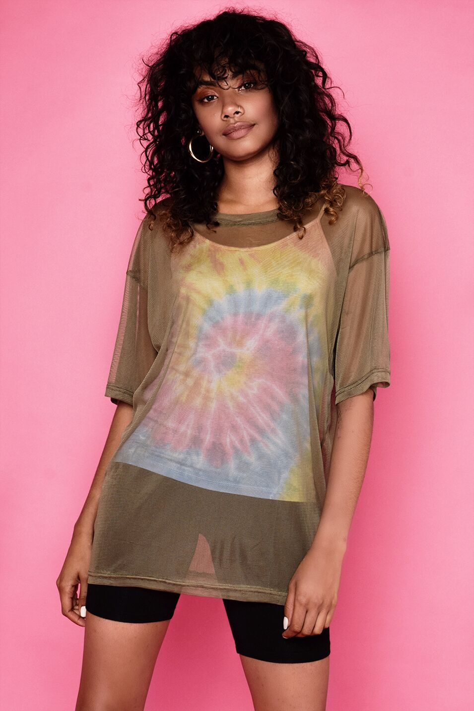 Load image into Gallery viewer, Nicola Tie-Dye & Mesh Top Set - Khaki