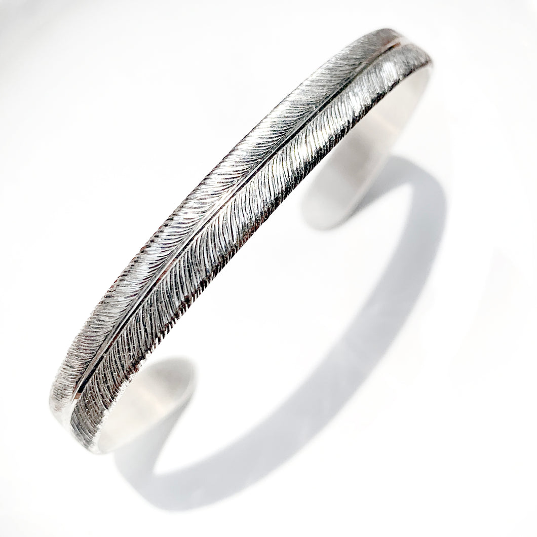 Hand Engraved Feather Bracelets