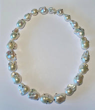 Load image into Gallery viewer, Large White Pearl Choker Necklace
