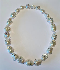 Large White Pearl Choker Necklace