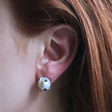 Load image into Gallery viewer, White Pearl Stud Earrings