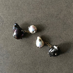 Double Sided Mixed Pearl Cufflinks