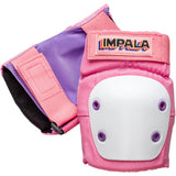 Pink Impala adults protective knee pads. Safety Equipment for roller skating and skateboarding.