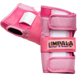 Pink Impala adults protective wrist guards. Safety Equipment for roller skating and skateboarding.
