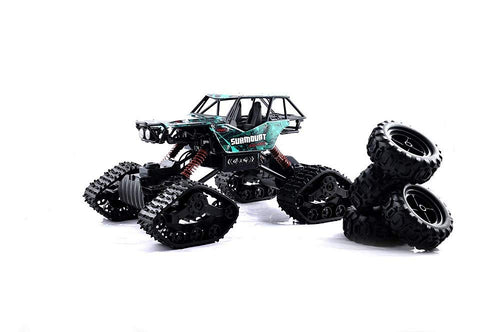 Crawler High Speed Off-Road Vehicle | Climber Cross Country | Dual Type Wheels Snow and Rubber | Rechargeable | Assorted Colors | Heavy Duty9Multicolor)