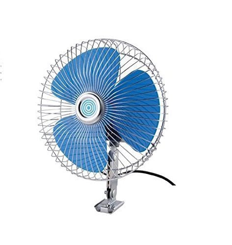 Auto Rotate 6 Inch 12V DC Universal car Fan(with Switch and Wiring)