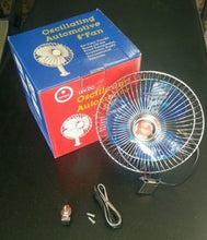 Load image into Gallery viewer, Auto Rotate 6 Inch 12V DC Universal car Fan(with Switch and Wiring)