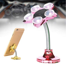 Load image into Gallery viewer, Magic Sucker Mobile Holder Multi-Function Double-Sided Suction Cup Strong Adsorption 360°Rotatable Metal Stand for Car Home Phone Holder 4.7 Inch { Color May Very }