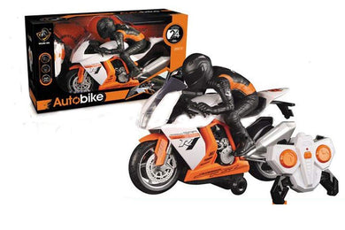 Land Super Fun High Speed Stunt RC Motorcycle Bike Scaled Model for Kids(Multicolor)