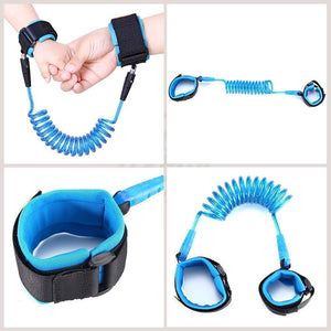Baby Kids Safety Lock Anti Lost Wrist Harness Strap Walking Hand Belt Wristband for Toddlers Children - Random Color