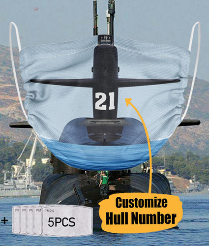 BeKingArt Veteran Personalized United States Navy Submarine Hull Number