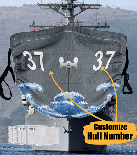 BeKingArt Veteran Personalized Navy Veteran Sailor Hull Number