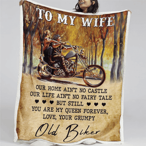 BeKingArt Biker Personalize To My Wife Our Home No Castle