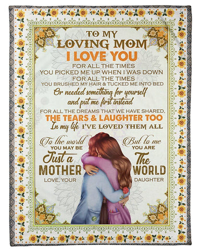 BeKingArt Family Personalized Daughter To Mom For Family Fleece Blanket