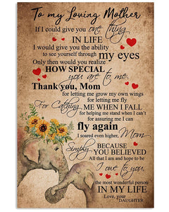 BeKingArt Family Daughter Gifts For Mother If I Could Give You One Thing Quote Gifts Vertical Poster