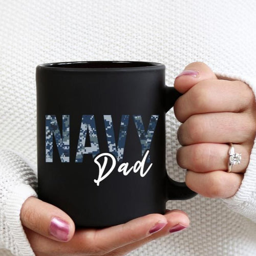 BeKingArt Veteran Proud Navy Dad