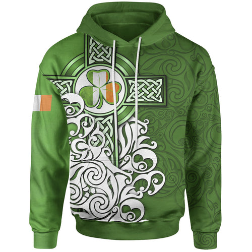 BeKingArt 3D Irish Cross Shamrock