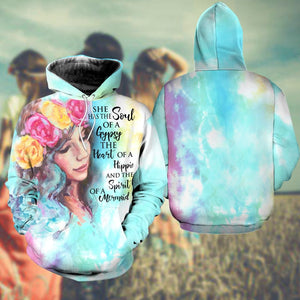 BeKingArt 3D Hippie November Girl She Has The Soul Gypsy