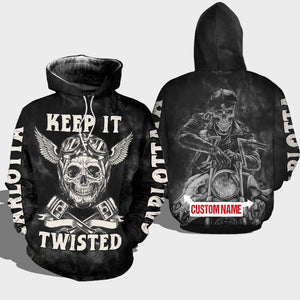 BeKingArt 3D Biker Personalized Keep It Twisted