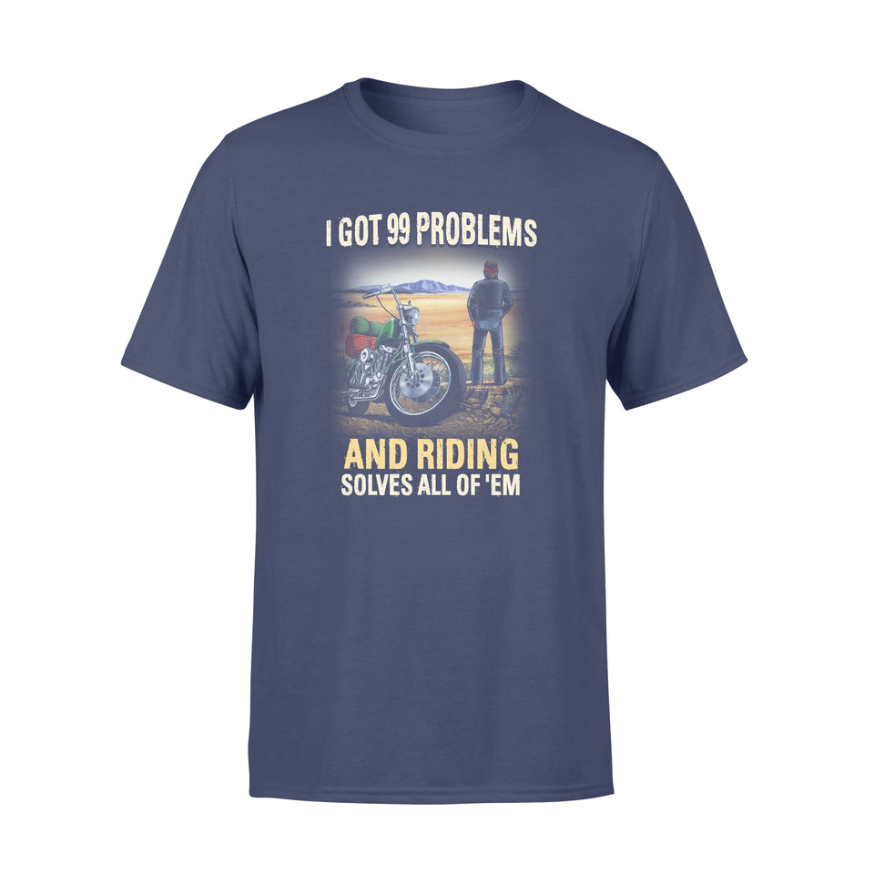 BeKingArt Biker I Have 99 Problems Riding Solves All